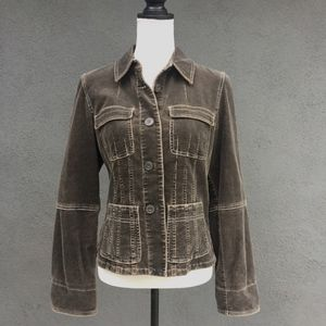 INC   Dark  Brown   Corduroy  Jacket